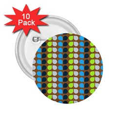 Colorful Leaf Pattern 2 25  Button (10 Pack)
