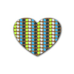 Colorful Leaf Pattern Drink Coasters (heart)