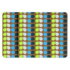 Colorful Leaf Pattern Samsung Galaxy Tab 8.9  P7300 Flip Case