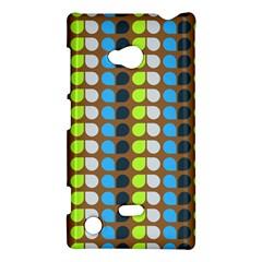 Colorful Leaf Pattern Nokia Lumia 720 Hardshell Case