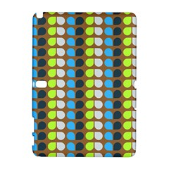 Colorful Leaf Pattern Samsung Galaxy Note 10.1 (P600) Hardshell Case