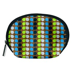 Colorful Leaf Pattern Accessory Pouch (medium)