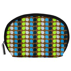 Colorful Leaf Pattern Accessory Pouch (Large)