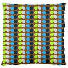 Colorful Leaf Pattern Large Flano Cushion Case (Two Sides)
