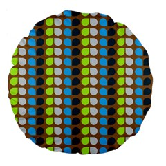 Colorful Leaf Pattern 18  Premium Flano Round Cushion
