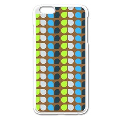 Colorful Leaf Pattern Apple iPhone 6 Plus Enamel White Case