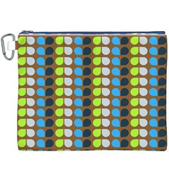 Colorful Leaf Pattern Canvas Cosmetic Bag (XXXL)
