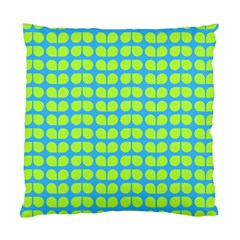 Blue Lime Leaf Pattern Cushion Case (single Sided)