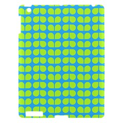 Blue Lime Leaf Pattern Apple Ipad 3/4 Hardshell Case