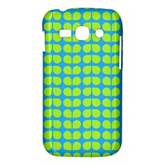 Blue Lime Leaf Pattern Samsung Galaxy Ace 3 S7272 Hardshell Case