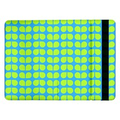 Blue Lime Leaf Pattern Samsung Galaxy Tab Pro 12.2  Flip Case