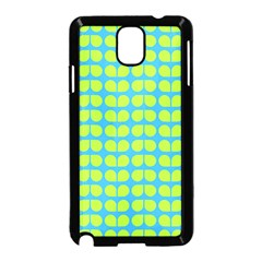 Blue Lime Leaf Pattern Samsung Galaxy Note 3 Neo Hardshell Case (black)
