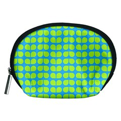 Blue Lime Leaf Pattern Accessory Pouch (Medium)