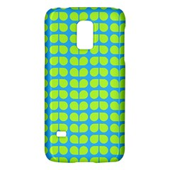 Blue Lime Leaf Pattern Samsung Galaxy S5 Mini Hardshell Case