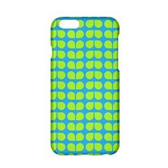 Blue Lime Leaf Pattern Apple iPhone 6 Hardshell Case