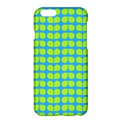 Blue Lime Leaf Pattern Apple Iphone 6 Plus Hardshell Case