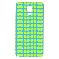 Blue Lime Leaf Pattern Samsung Note 4 Hardshell Back Case