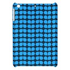 Blue Gray Leaf Pattern Apple Ipad Mini Hardshell Case