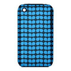 Blue Gray Leaf Pattern Apple iPhone 3G/3GS Hardshell Case (PC+Silicone)