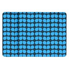 Blue Gray Leaf Pattern Samsung Galaxy Tab 8.9  P7300 Flip Case