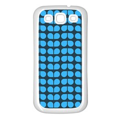 Blue Gray Leaf Pattern Samsung Galaxy S3 Back Case (white)