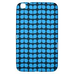 Blue Gray Leaf Pattern Samsung Galaxy Tab 3 (8 ) T3100 Hardshell Case