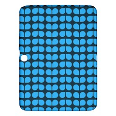 Blue Gray Leaf Pattern Samsung Galaxy Tab 3 (10 1 ) P5200 Hardshell Case