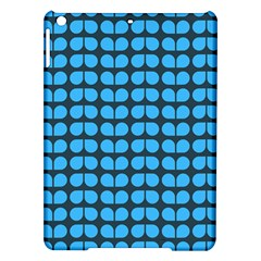 Blue Gray Leaf Pattern Apple iPad Air Hardshell Case