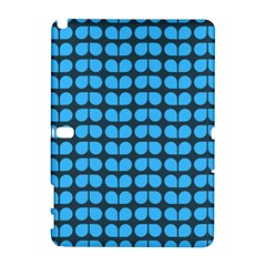 Blue Gray Leaf Pattern Samsung Galaxy Note 10.1 (P600) Hardshell Case