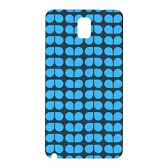 Blue Gray Leaf Pattern Samsung Galaxy Note 3 N9005 Hardshell Back Case