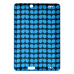 Blue Gray Leaf Pattern Kindle Fire HD (2013) Hardshell Case