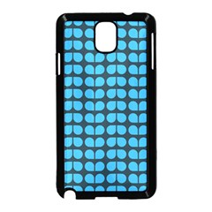 Blue Gray Leaf Pattern Samsung Galaxy Note 3 Neo Hardshell Case (Black)