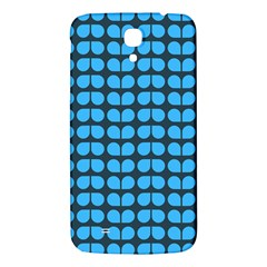 Blue Gray Leaf Pattern Samsung Galaxy Mega I9200 Hardshell Back Case