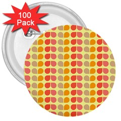 Colorful Leaf Pattern 3  Button (100 Pack)