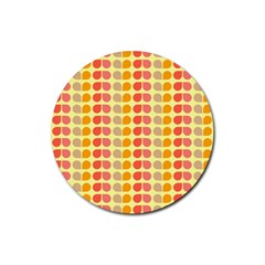 Colorful Leaf Pattern Drink Coasters 4 Pack (round)