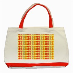 Colorful Leaf Pattern Classic Tote Bag (Red)
