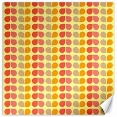 Colorful Leaf Pattern Canvas 16  X 16  (unframed)