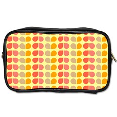 Colorful Leaf Pattern Travel Toiletry Bag (one Side)