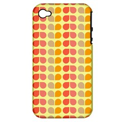 Colorful Leaf Pattern Apple Iphone 4/4s Hardshell Case (pc+silicone)