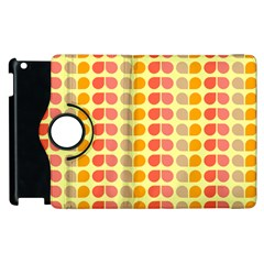 Colorful Leaf Pattern Apple iPad 2 Flip 360 Case