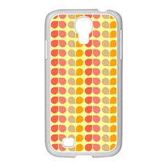 Colorful Leaf Pattern Samsung Galaxy S4 I9500/ I9505 Case (white)