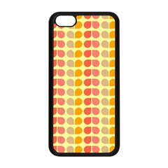 Colorful Leaf Pattern Apple iPhone 5C Seamless Case (Black)