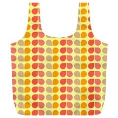 Colorful Leaf Pattern Reusable Bag (XL)