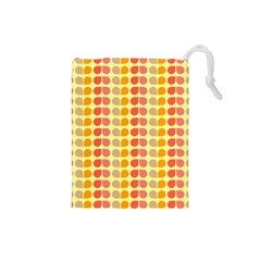 Colorful Leaf Pattern Drawstring Pouch (small)