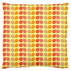 Colorful Leaf Pattern Standard Flano Cushion Case (one Side)