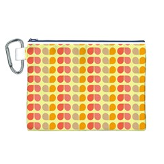Colorful Leaf Pattern Canvas Cosmetic Bag (Large)