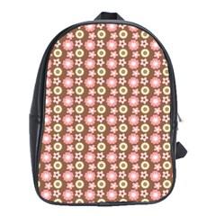 Cute Floral Pattern School Bag (xl)