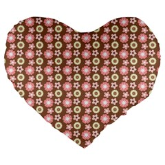 Cute Floral Pattern 19  Premium Heart Shape Cushion