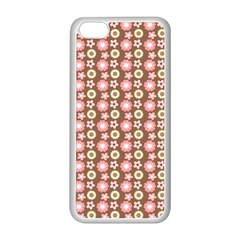 Cute Floral Pattern Apple iPhone 5C Seamless Case (White)