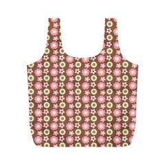 Cute Floral Pattern Reusable Bag (m)